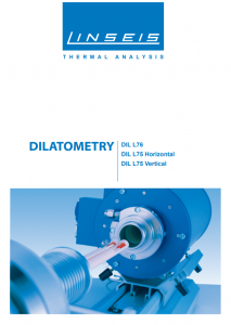 Linseis Dilatometer Produktbroschüre L76 L75