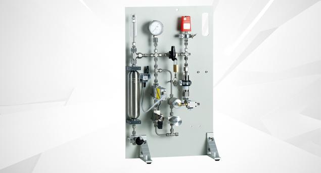 Gasmischanalge für Hochdruckwaagen
