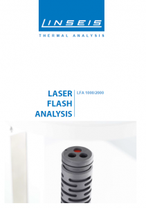 Laser Flash Analysis 1000/2000 Product brochure (PDF)