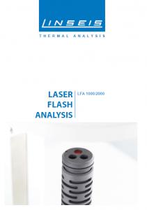 Laser Flash Analysis 1000/2000 Product brochure (PDF)